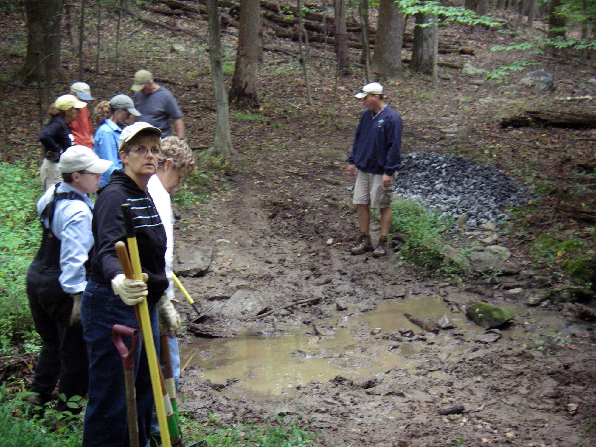 CWA members working on culvert project with DNR
